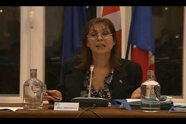 Maider Arosteguy, maire de Biarritz, lors du vote de la hausse de la taxe en conseil municipal ce vendredi 24 septembre.