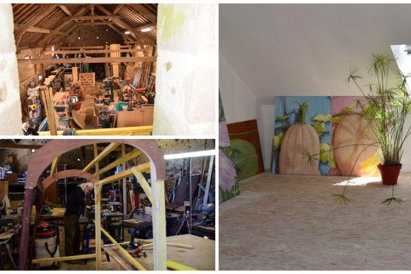 Dans le Morvan, à La Grande Verrière, Fabienne et Jean-Marc Laloux continuent les travaux dans leur propriété pour y installer leur galerie.