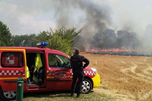 Avec la canicule, les pompiers de l'Yonne sont sur tous les fronts