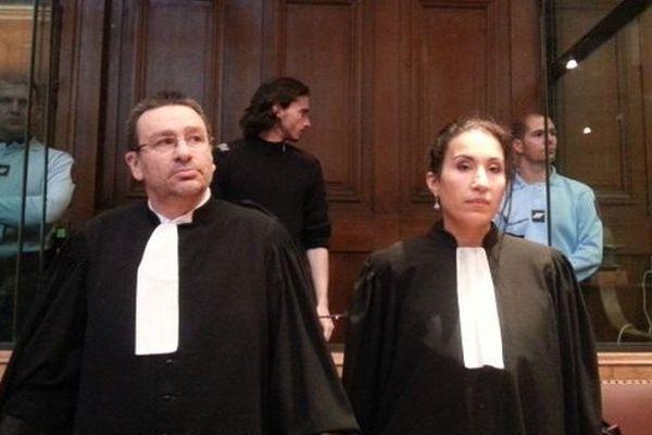 Gérald Seureau et ses deux avocats - 2014