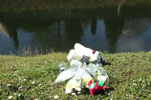 Le canal du Battant à Charmes (88) où le corps de l'enfant a été repêché, vendredi 24 mars 2017, par un camping-cariste.
