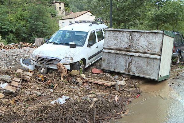Les habitants ont retrouvé leur voiture plusieurs centaines de mètres en bas de chez eux - septembre 2020
