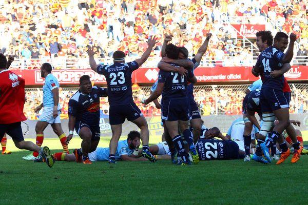 Victoire du SUAgen face à l'USAPerpignan, le 17 mai 2015
