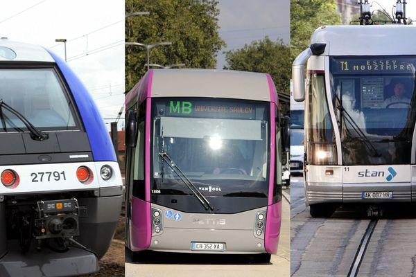 Sur les lignes TER ou sur les réseaux de ville, comme à Nancy ou Metz, les usagers qui ont souscrit un abonnement ne paieront pas au mois d'avril.