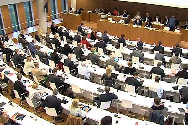 Session pleinière du Conseil régional de Normandie à Caen, ce lundi.