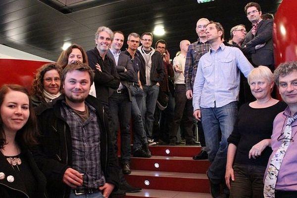 Les membres du cluster numérique des médias de l'ouest à Nantes