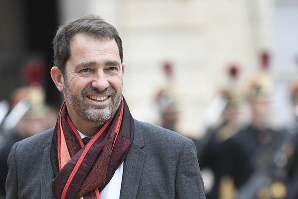 Christophe Castaner à l'Elysée le 14 mai lors de l'investiture d'Emmanuel Macron.