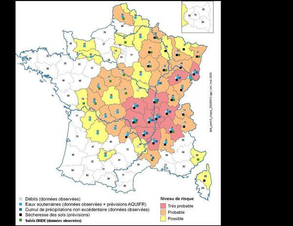 """Le Calvados et l'Orne en prévision """"sécheresse possible"""", comme 16 autres départements français"""