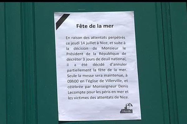 Pour respecter le deuil national et par respect pour les victimes de l'attentat de Nice, le maire de Villerville a annulé la Fête de la Mer.