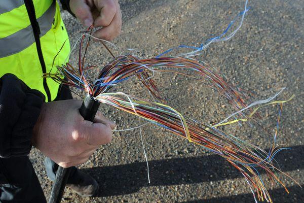 300 mètres de câbles ont été volés. Image d'archives