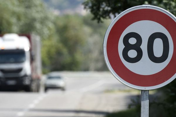 La limitation abaissé à 80 km/h doit entrer en vigueur le 1er juillet 2018