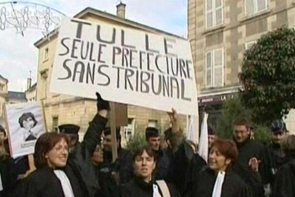 Manifestation pour la réouverture du tribunal de Tulle ( archives)