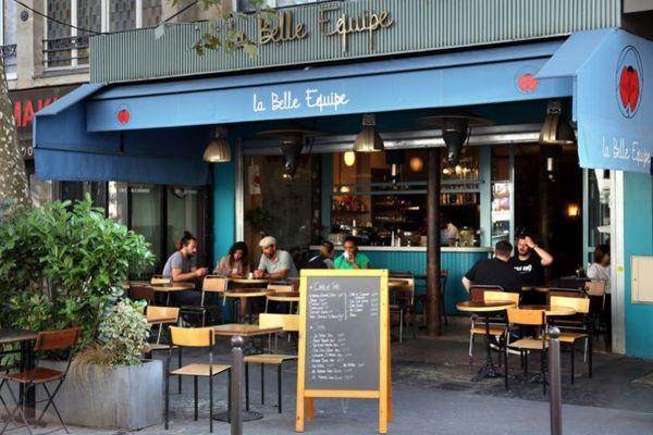 Le café La Belle équipe dans le 11e Arr. de Paris septembre 2021