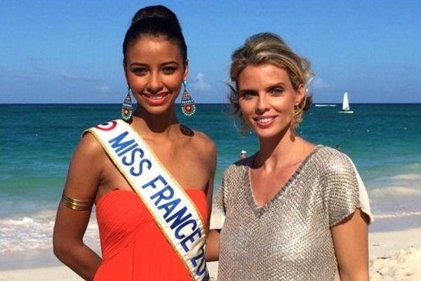 Flora Coquerel et Sylvie Tellier à Punta Cana.
