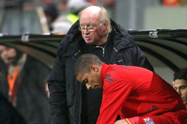 Daniel Leclercq en 2008, lors d'un match entre le RC Lens et Nancy en Coupe de la Ligue.