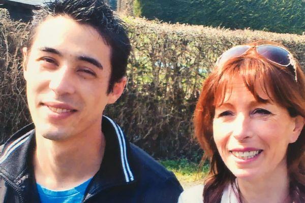 Fabienne Gauclin et son fils, Giani