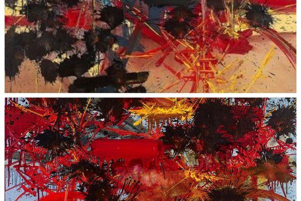 2 toiles de G Mathieu vendues aux enchères