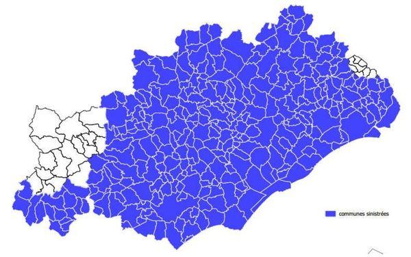 Hérault : 319 communes reconnues en calamité agricole pour le gel de février 2018