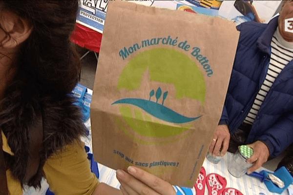 Stop aux sacs en plastique à Betton (35)