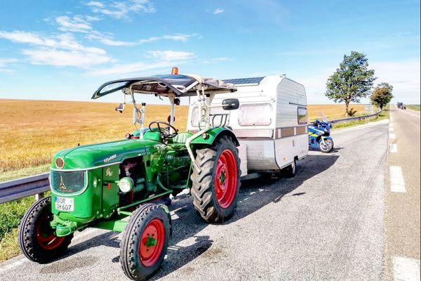Le tracteur a été contrôlé sur la RN4 entre les communes de Soudé et Coole.