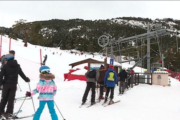 300 skieurs étaient présents sur le domaine ce dimanche.