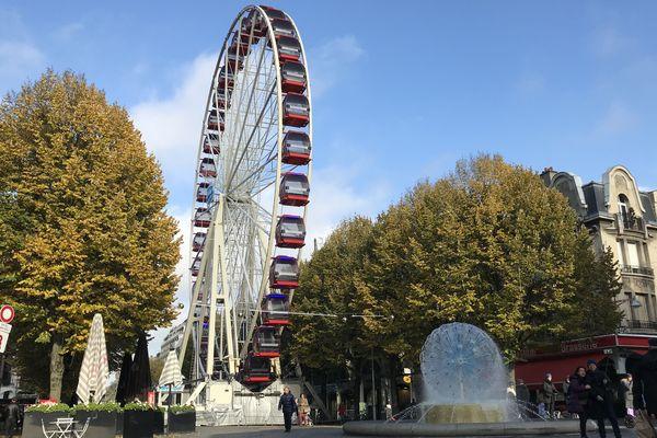 La grande roue de la place d'Erlon sera ouverte tous les jours jusqu'au 5 janvier.