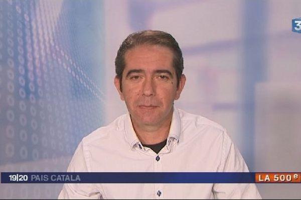 Joël Manzanarès, présentateur de Noticies