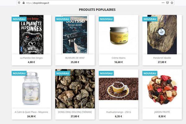 En plus des produits affichés, le client peut aller sur le site du commerçant pour découvrir toutes les références.