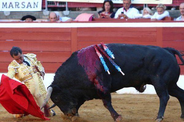 Ivan Fandiño, vendredi 22 juillet, Mont-de-Marsan. Début de faena au 6 ème toro de Fuente Ymbro