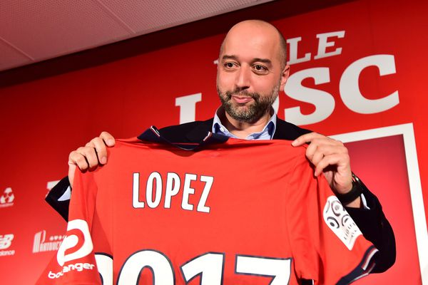 Gérard Lopez vendredi dernier à Luchin pour sa présentation officielle à la presse.