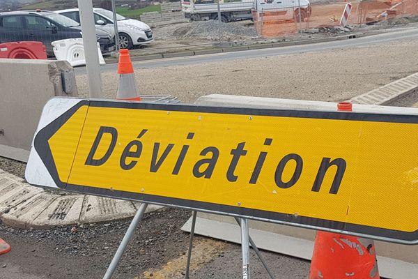 Dans le Cantal, la RN 122 sera fermée à la circulation entre les 15 et 23 septembre prochains, une déviation sera mise en place via l'A75.