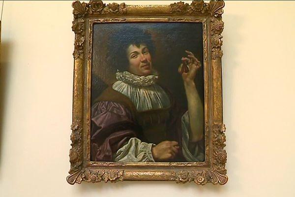 L'homme à la figue de Simon Vouet , un tableau codé qu'il faut savoir lire.. ( Musée des Beaux Arts de Caen)