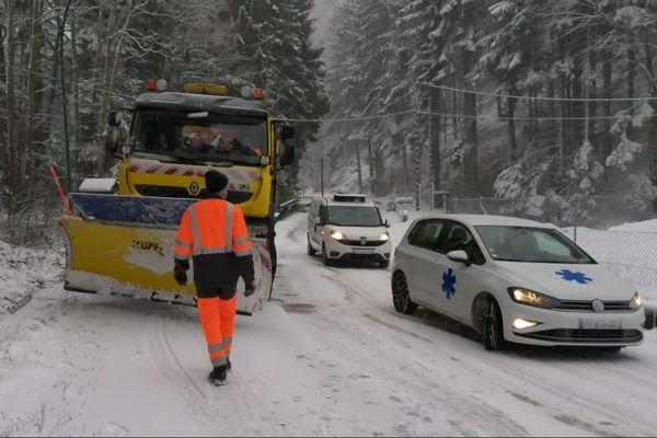 Les conditions de circulation sont délicates en Alsace ce 12 janvier.