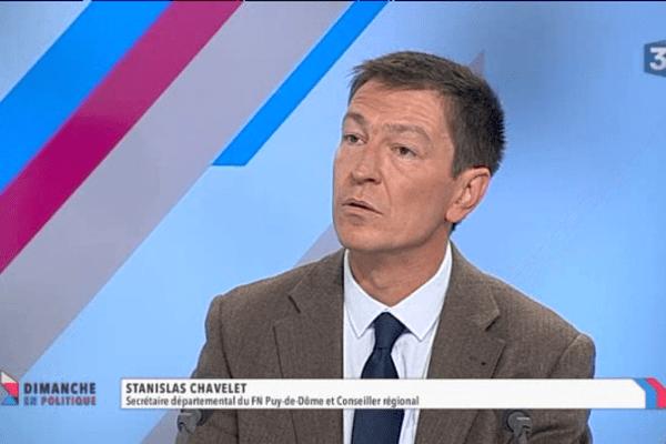 Stanislas Chavelet, secrétaire départemental de la fédération du Front National du Puy-de-Dôme.