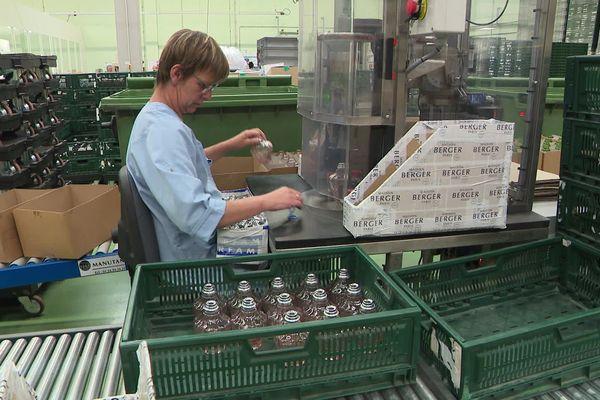 """Juin 2019 : un des ateliers de l'usine normande de """"Maison Berger Paris"""" / Archives"""