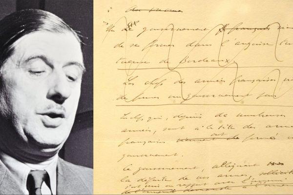La copie, authentifiée par De Gaulle, a été offerte à François Hollande à la fin de son mandat.