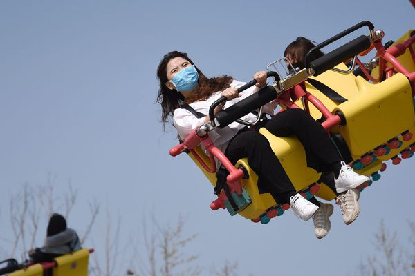 Image d'illustration, un parc d'attraction rouvert en Chine après des mois de fermeture suite au COVID 19