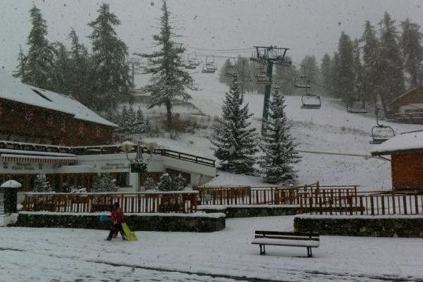 Il neige à la Colmiane, le 28 octobre 2012