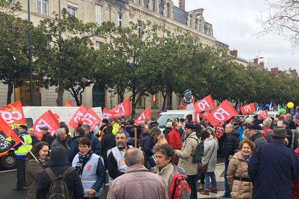 La manif contre la réforme des retraites à Angers, le 9 janvier 2020