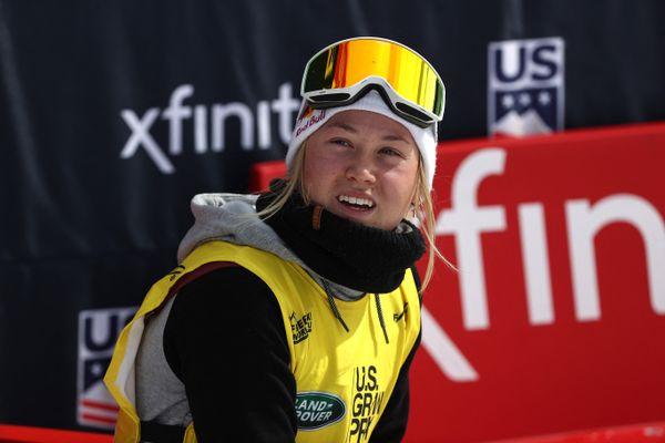 Tess Ledeux le 20 mars dernier à Aspen, Colorado.