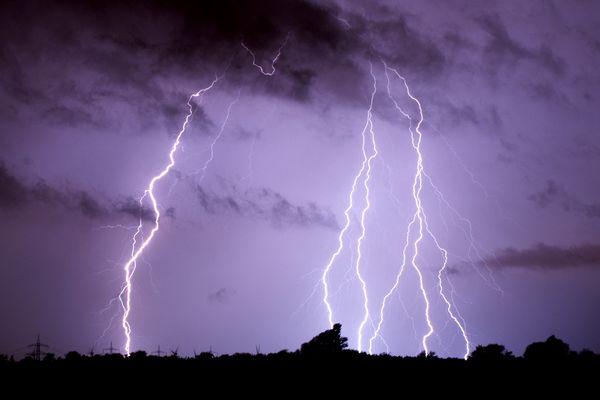 Un orage, photo d'illustration.