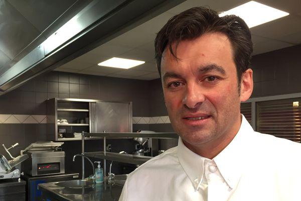 Le restaurateur Jérôme Brochot dans son restaurant à Montceau-les-Mines