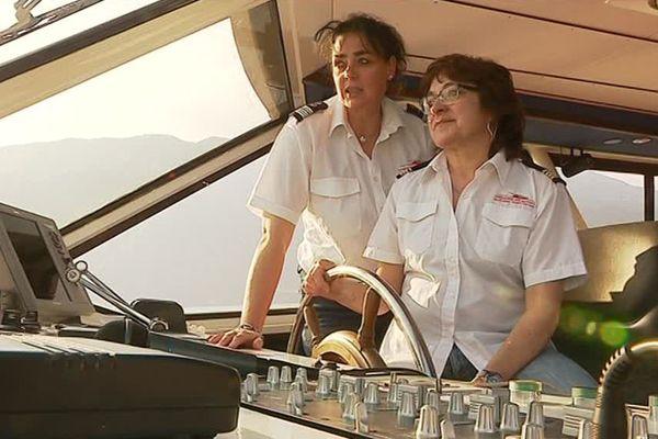 Ségolène Villamor, à droite et Sylvie Priqueler, à gauche