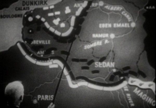 Les lignes de front le 23 mai 1940 dans le nord de la France.