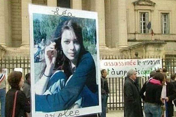 Montpellier - manifestation devant le palais de justice pour soutenir les parents de Léa - 15 mai 2013