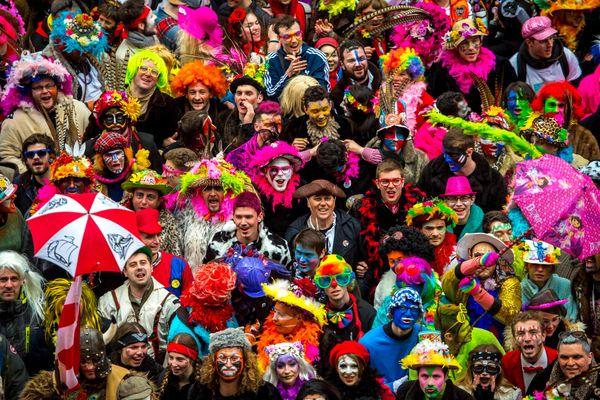 Lors du carnaval de Dunkerque, en 2017.