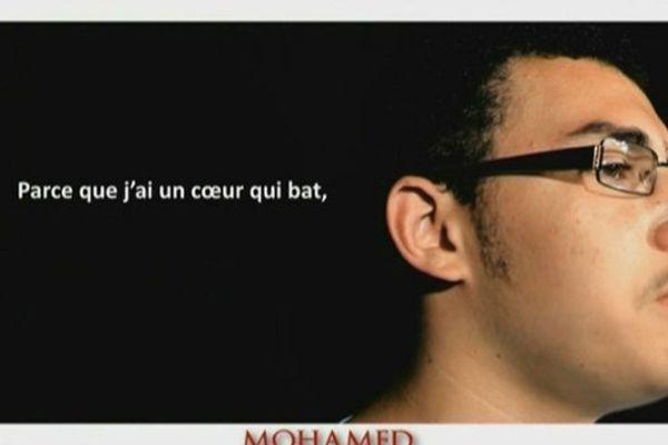 Mohamed, l'un des acteurs de ce clip sur le handicap