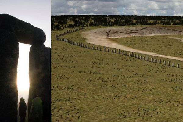 Les archéologues ont mis au jour quelque 90 pierres couchées et enterrées à proximité de Stonehenge.