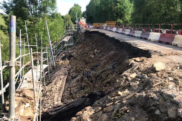 Secondigny : fermeture de la route après un éboulement sur la Départementale 748