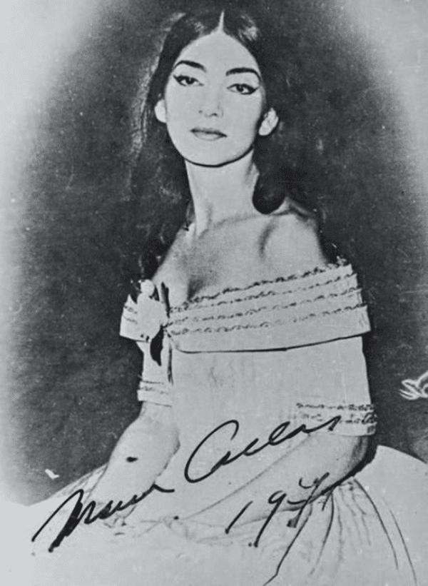 Maria Callas dans La Traviata